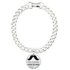 Awesome Mustache Charm Bracelet, One Charm