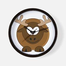 Happy Moose Wall Clock