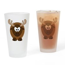 Happy Moose Drinking Glass
