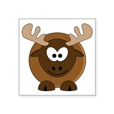 """Happy Moose Square Sticker 3"""" x 3"""""""