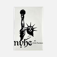 NYHC NEW YORK HARDCORE Rectangle Magnet