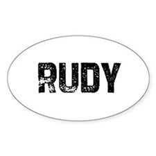 Rudy Oval Decal