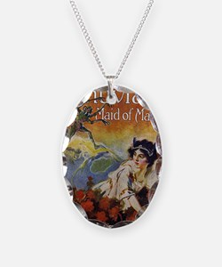 Thuvia Maid of Mars 1920 Necklace Oval Charm