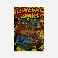 All-Negro Comics No 1 Rectangle Magnet
