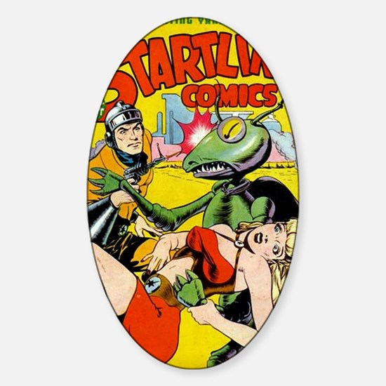 Startling Comics No 44 Sticker (Oval)