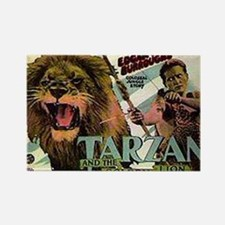 Tarzan and the Golden Lion Rectangle Magnet