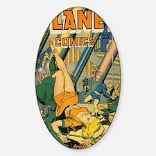 Planet Comics No 53 Sticker (Oval)