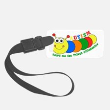 Autism Caterpillar Luggage Tag