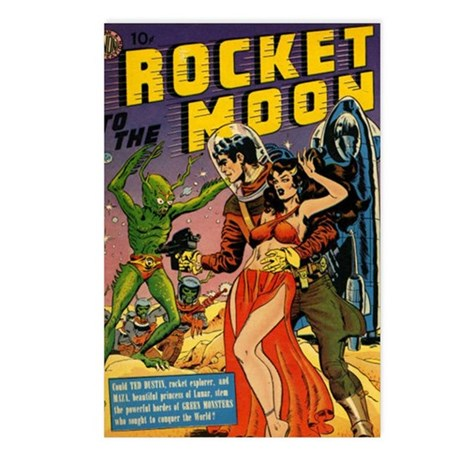 Rocket to the Moon Postcards (Package of 8)