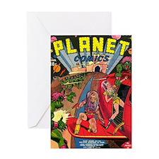 Planet Comics No 1 Greeting Card