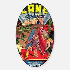 Planet Comics No 1 Sticker (Oval)