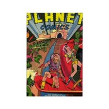 Planet Comics No 1 Rectangle Magnet