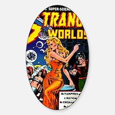 Strange Worlds No 4 Sticker (Oval)