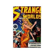Strange Worlds No 4 Rectangle Magnet