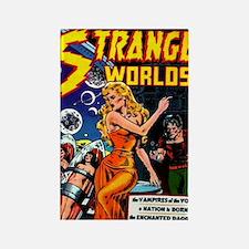 Strange Worlds No 4 Rectangle Magnet
