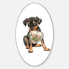 minpin momK Sticker (Oval)