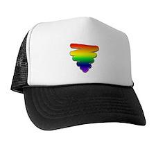 Hand Drawn Rainbow Triangle Trucker Hat