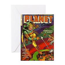 Planet Comics No 71 Greeting Card