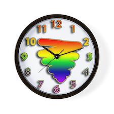 Hand Drawn Rainbow Triangle Wall Clock