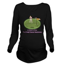 4 Words - A Hole In  Long Sleeve Maternity T-Shirt