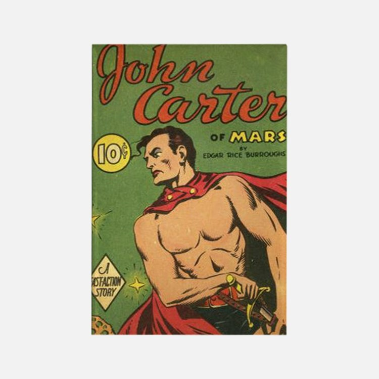 Big Little Book John Carter of Ma Rectangle Magnet