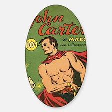 Big Little Book John Carter of Mars Sticker (Oval)