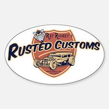 rat-rod-103-CAP Sticker (Oval)