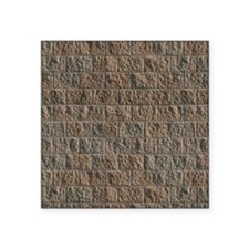 "stone pattern Square Sticker 3"" x 3"""