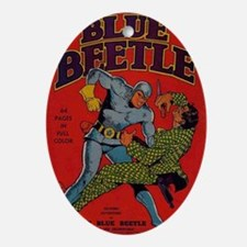 Blue Beetle No 1 Oval Ornament