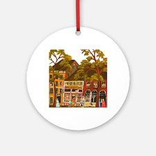 Needlework District Round Ornament