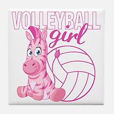 Volleyball Girl Tile Coaster