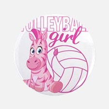 """Volleyball Girl 3.5"""" Button"""