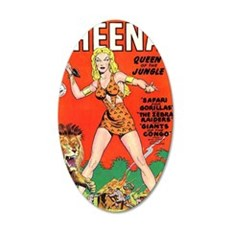 Sheena Queen of the Jungle N 35x21 Oval Wall Decal