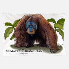 Sumatran Orangutan Pillow Case