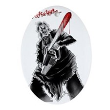 Hell House of Horror's Leatherface Oval Ornament
