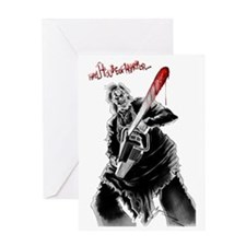 Hell House of Horror's Leatherface Greeting Card
