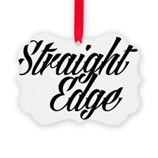 STRAIGHT EDGE LOGO Ornament