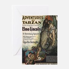 Adventures of Tarzan Elmo Lincoln Greeting Card