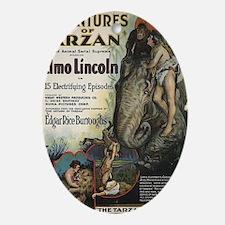 Adventures of Tarzan Elmo Lincoln Oval Ornament