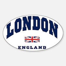 London England Union Jack Sticker (Oval)