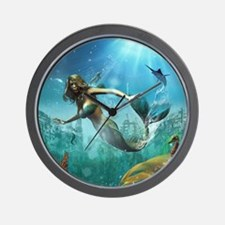 Glimpse Of Atlantis 2 Wall Clock