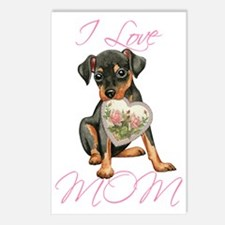 Min Pin Mom Postcards (Package of 8)
