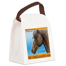 stophorseTL Canvas Lunch Bag