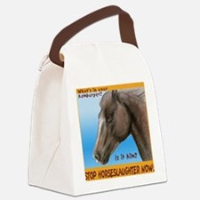stophorseTL Canvas Lunch Bag