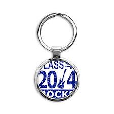 Class Of 2014 Rocks Round Keychain