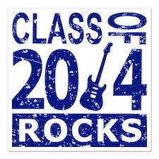 "Class Of 2014 Rocks Square Car Magnet 3"" x 3"""