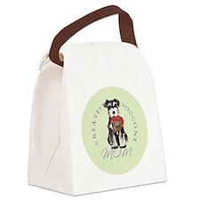mini schnauzer mom Canvas Lunch Bag