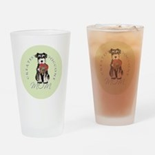 mini schnauzer mom Drinking Glass