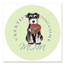 "mini schnauzer mom Square Car Magnet 3"" x 3"""