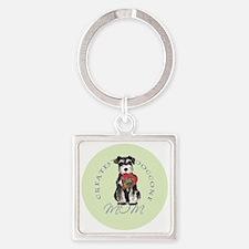 mini schnauzer mom Square Keychain